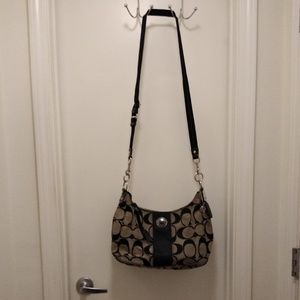 Authentic Black and Grey Coach Hobo Bag